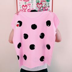 Pink oversize tee with recycled pois.More info here:http://bloody-licious.blogspot.it/p/about-us.html