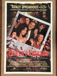 PIPOCA COM BACON -   Top 10 – Trilhas Sonoras de Filmes   Poster internacional de Para o Resto de Nossas Vidas ( Peter's Friends ), de 1992.  #asvantagensdeserinvisível #crazystupidlove #curtindoavidaadoidado #dirtydancing #donniedarko #footloose #godzilla #magnolia #petersfriends #pequenamisssunshine #pipocacombacon