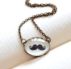Movember Style | moustache fashion | moustache necklace