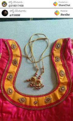 Chudi Neck Designs, Salwar Neck Designs, Blouse Back Neck Designs, Fancy Blouse Designs, Hand Designs, Cotton Saree Blouse Designs, Patch Work Blouse Designs, Saree Gown, Stylish Blouse Design