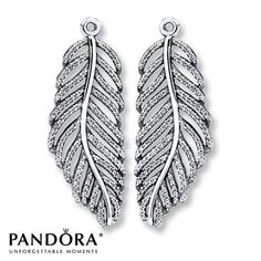 Pandora Earring Charms Clear CZ Sterling Silver