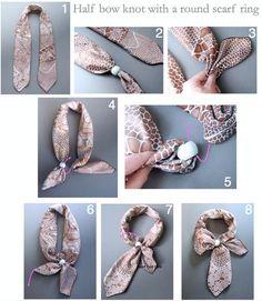 Diy Scarf, Scarf Wrap, Scarf Rings, Scarf Necklace, Scarf Knots, Scarf a951e971e8b