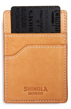 Shinola Money Clip Card Case available at #Nordstrom