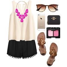 A fashion look from November 2014 featuring H&M tops, Tory Burch wallets and Kendra Scott necklaces. Browse and shop related looks.