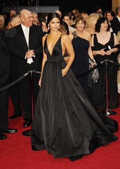 Deep V-Neck Floor Length Oscar Celebrity Dresses Inspired by Camila Alves