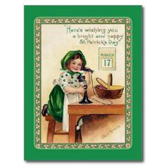 >>>Hello          Vintage St Patrick's Day postcard           Vintage St Patrick's Day postcard lowest price for you. In addition you can compare price with another store and read helpful reviews. BuyHow to          Vintage St Patrick's Day postcard today easy to Shops & Purchas...Cleck Hot Deals >>> http://www.zazzle.com/vintage_st_patricks_day_postcard-239829653868191034?rf=238627982471231924&zbar=1&tc=terrest