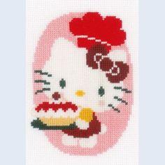 """""""Hello Kitty - At the Bakery"""": kruissteekpakket met telpatroon"""