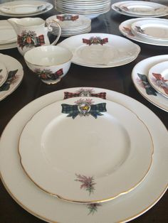Vintage Plaid Dinner Set Serves 8 33 Piece Plates by OscarBond & The Most Beautiful China Patterns for Your Fall Table | China ...
