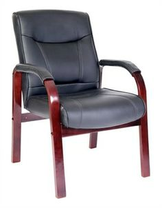 Kingston Mahogany Leather Visitors Chair