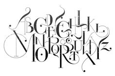 cross stitch graffiti letters | Calligraphy Alphabet Typography