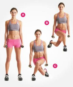 Cross-Behind Lunges | Women's Health