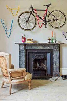 Decorative bike storage