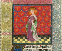 Agatha - NYC Pierpont Morgan Library - Hours of Catharina of Cleves MS Medieval Manuscript, Medieval Art, Illuminated Letters, Illuminated Manuscript, Morgan Library, Book Of Hours, The Masterpiece, Dutch Artists, Gothic Art
