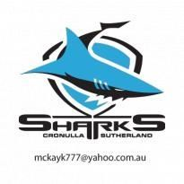 Cronulla Sutherland Sharks vector Logo. Get this logo in Vector format from https://logovectors.net/cronulla-sutherland-sharks-logo-vector/