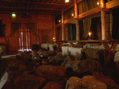 """""""Inside the Viking Chieftain Hall Rodeborg. The house is located in the Rosala Viking Center in Finland. Viking age artifacts from 800–1000 AD have been found on the islands of Rosala and Hitis in the Southern Finland."""""""