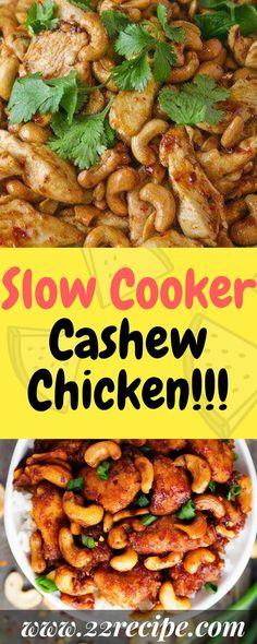 Slow Cooker Cashew Chicken!!! - 33 Recipe