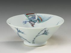 A SMALL DOUCAI 'PHOENIX' CONICAL CUP, QING DYNASTY, KANGXI PERIOD   Lot   Sotheby's