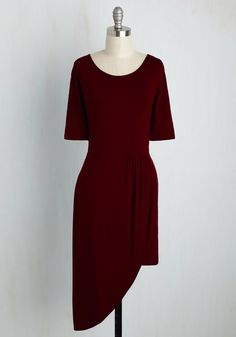 Best of the Fresh Dress in Burgundy, #ModCloth