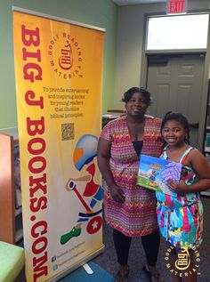 We were in Virginia showcasing our new book. A mother with her daughter purchased a book from us. See it at bigjbooks.com