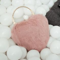 GET $50 NOW | Join RoseGal: Get YOUR $50 NOW!http://www.rosegal.com/evening-bags/metal-faux-fur-heart-shape-813826.html?seid=2275071rg813826