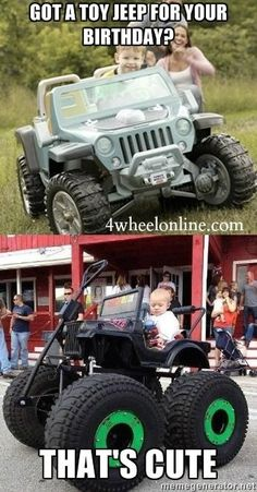 Memes about relationships moving on kids super ideas Jeep Jokes, Jeep Humor, Car Jokes, Car Humor, Jeep Funny, Jeep Wrangler Accessories, Jeep Accessories, Cool Trucks, Cool Cars