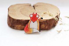 Regalo de Fox para broche de Fox de niños cumpleaños niños by Dinabijushop   Etsy