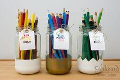 White & Gold 'Dipped' Storage Jar ~ Susan Wong
