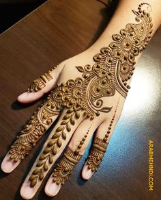 Browse the latest Mehndi Designs Ideas and images for brides online on HappyShappy! We have huge collection of Mehandi Designs for hands and legs, find and save your favorite Mehendi Design images. Henna Hand Designs, Eid Mehndi Designs, Latest Simple Mehndi Designs, Mehndi Designs Finger, Mehndi Designs For Girls, Mehndi Designs For Beginners, Stylish Mehndi Designs, Mehndi Designs For Fingers, Wedding Mehndi Designs