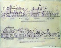 """According to the artwork, the land's main stretch would have a """"Cartoonsville"""" Main Street."""