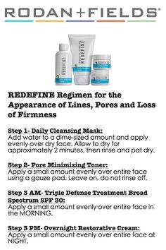 4 x 6 Rodan Fields Regimen Instructions by USAMadeStickerShop