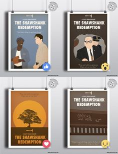 THE SHAWSHANK REDEMPTION - Minimalist Movie Poster Print Posteritty in Art, Posters, Contemporary (1980-Now)   eBay!