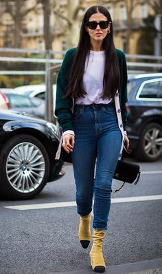 The 2017 Way to Wear Skinny Jeans (and Still Look Stylish) via @WhoWhatWear