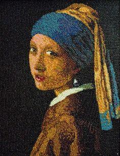 "Jelly beans art by Kristen Cumings. (Vermeer's original ""Girl with the Pearl Earring"") ;)"