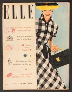 'ELLE' FRENCH VINTAGE MAGAZINE 28 APRIL 1952 |