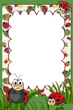 Boarder Designs, Page Borders Design, Coloring Books, Coloring Pages, Fall Arts And Crafts, Boarders And Frames, Ladybug Crafts, School Posters, Autumn Art