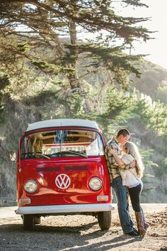 Gotta love that cherry red vw bus! photo by @Ana G. Maranges Martin