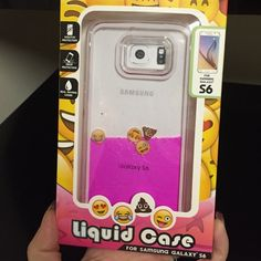 Case for Samsung Galaxy S6 Funny case for Samsung Galaxy S6 Trasparent with pink liquid inside and 4 emoji. When you move your phone , the liquid get moving to and the emoji with it . Could be a funny gift for someone or for yourself  Thank you and happy shopping  Accessories Phone Cases