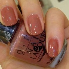 My new Nail Color today. OPI Dulce de Leche today color