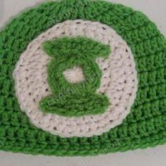 Green Lantern Superhero Logo Beanie Hat ~ free pattern
