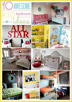10 Amazing Bedrooms for kids and tons of decor ideas... ADORABLE!