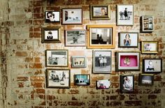 A wall full of frames.
