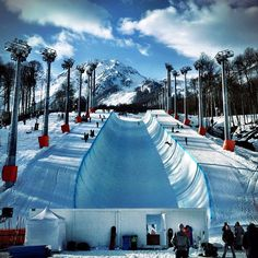 The great halfpipe of the Sochi 2014 Winter Olympics Games.