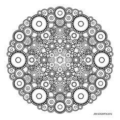 Interessante Mandala Idee aus verschiedenen Kreisen mit Mustern