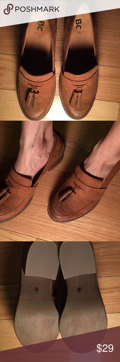 New BORN brown loafers NEW Professional and incredibly comfortable BORN brown loafers, 2 inch heels.   ALL OFFERS AND QUESTIONS are WELCOME! Please read description and review pictures for accuracy of the item. Place offer using the offer option. No trades. Born Shoes Flats & Loafers
