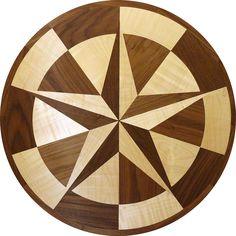 #TexasStar #woodfloorinlay made with Maple and Walnut