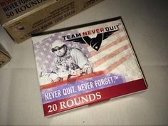 New and Unusual Gear From the 2015 NRA Annual Meeting, Team Never Quit Ammunition