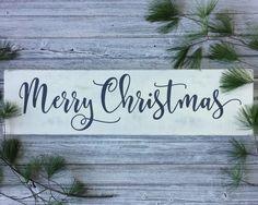 Merry Christmas Sign // Christmas wood signs // Christmas decor // rustic wall decor // rustic Christmas decor // mantel decor