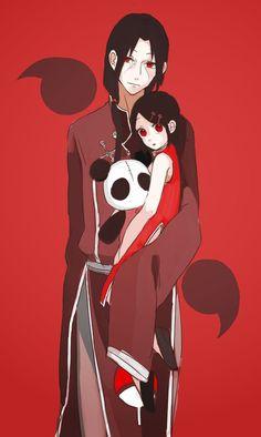 itachi, sarada uchiha, and manga image