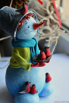 Авторская елочная игрушка от Марины Малько / Куклы из дерева, папье маше / Бэйбики. Куклы фото. Одежда для кукол Christmas Tree Toy, Christmas Design, Winter Christmas, Christmas Ornaments, Handmade Christmas Decorations, Handmade Christmas Gifts, Holiday Crafts, Paper Mache Diy, Dyi Crafts