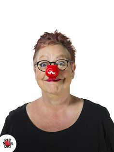 Jo Brand is all smiles wearing Nose-it-all one of the 10 (yes 10!) Noses from 2017.